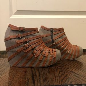 Jeffrey Campbell Buckle Wedges